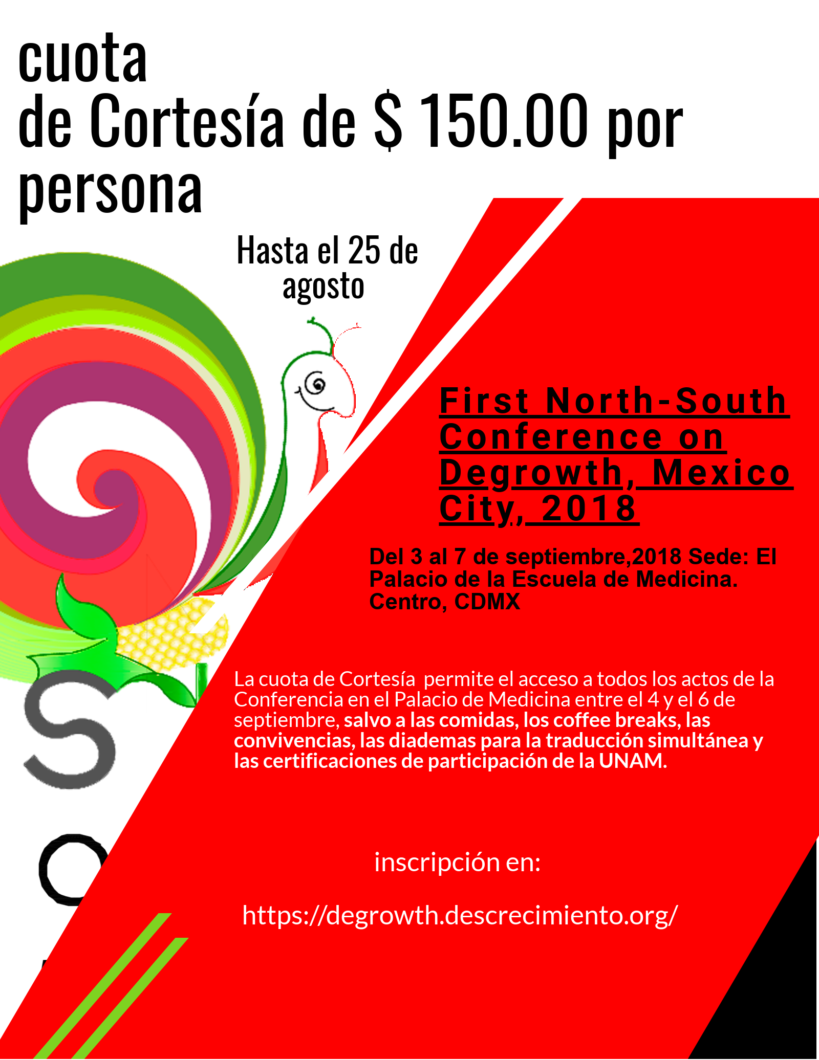 1st North South Conference On Degrowth Descrecimiento Mexico 2018